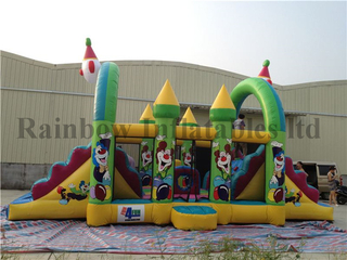 Small Indoor Inflatable Clown Playground for Family
