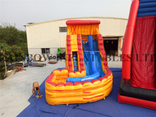 High Quality Commercial Use Inflatable Fire Theme Water Slide for Adults