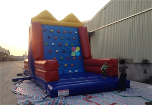 Big Indoor Commercial Inflatable 2 in 1 Sport Games Climbing Wall Velcro Wall for Sale
