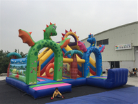 Inflatable jungle animal fun park
