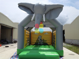 inflatable jungle elephant bouncer