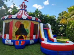 Circus Combo 5 in 1 Inflatable Bouncy House With Slide