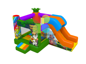 Forest Inflatable Castle Bouncer Combo With Slide
