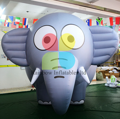 Commercial giant cartoon balloon type inflatable elephant helium balloon price advertising