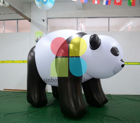 Customized Advertising Inflatable panda mascot cartoon figures for decorations