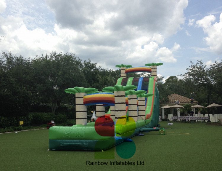 Giant Inflatable Tropical Slide