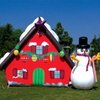 Airblown Inflatable Christmas Decorations with Led Lights Snow Santa Man