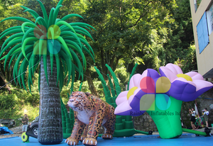 Attractive inflatable tree and flower with led lighting, giant outdoor inflatable tiger