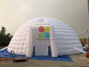 Commercial White Big Inflatable Igloo Dome tent
