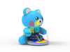 Latest Lake Blue Inflatable Bear Playground Ocean ball Amusement Park for kids