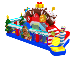 Happy Gift Holiday inflatable Chrismas Tree Funcity Candy playground