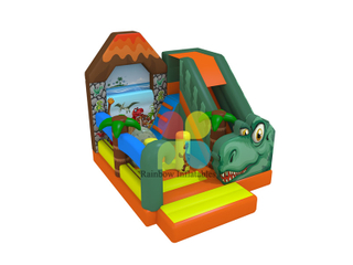 new design inflatable animal bouncer slide crocodile slide with obstacle