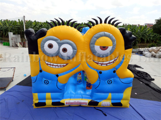 Outdoor Commercial Minions Inflatable Party Combo for Kids