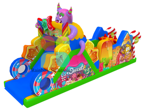 inflatable candy obstacle course indoor outdoor obstacle course equipment sale sport