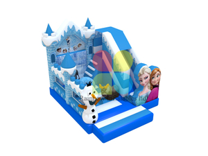Blue and White Frozeen Pricess Theme inflatable bouncy slides