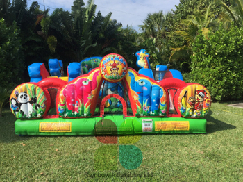 Toddler Animal Combo Inflatable Jumping Castle Funcity
